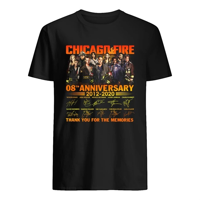 Chicago fire 8th anniversary thank you for the memories shirt