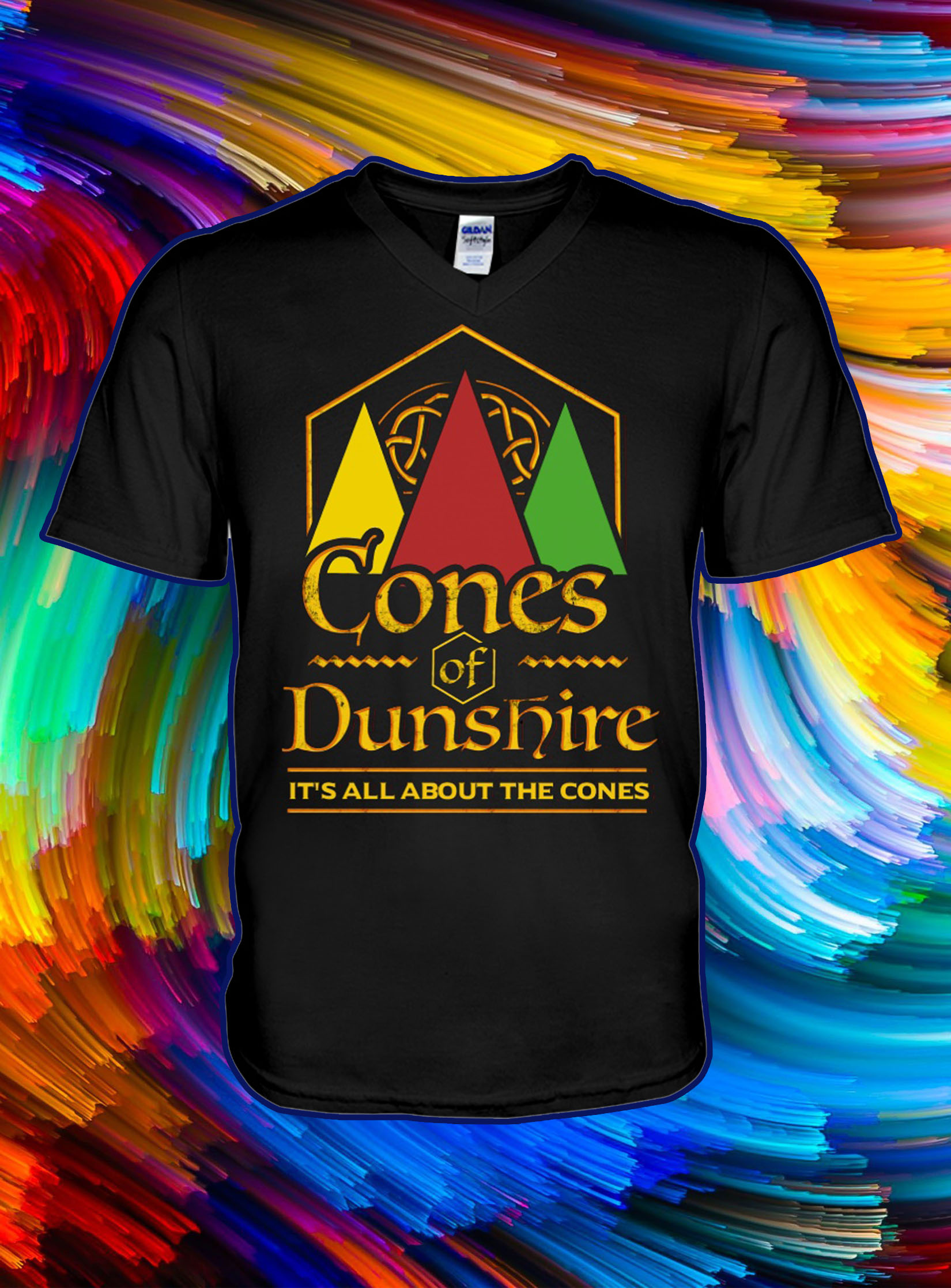 Cones of dunshire it's all about the cones v-neck
