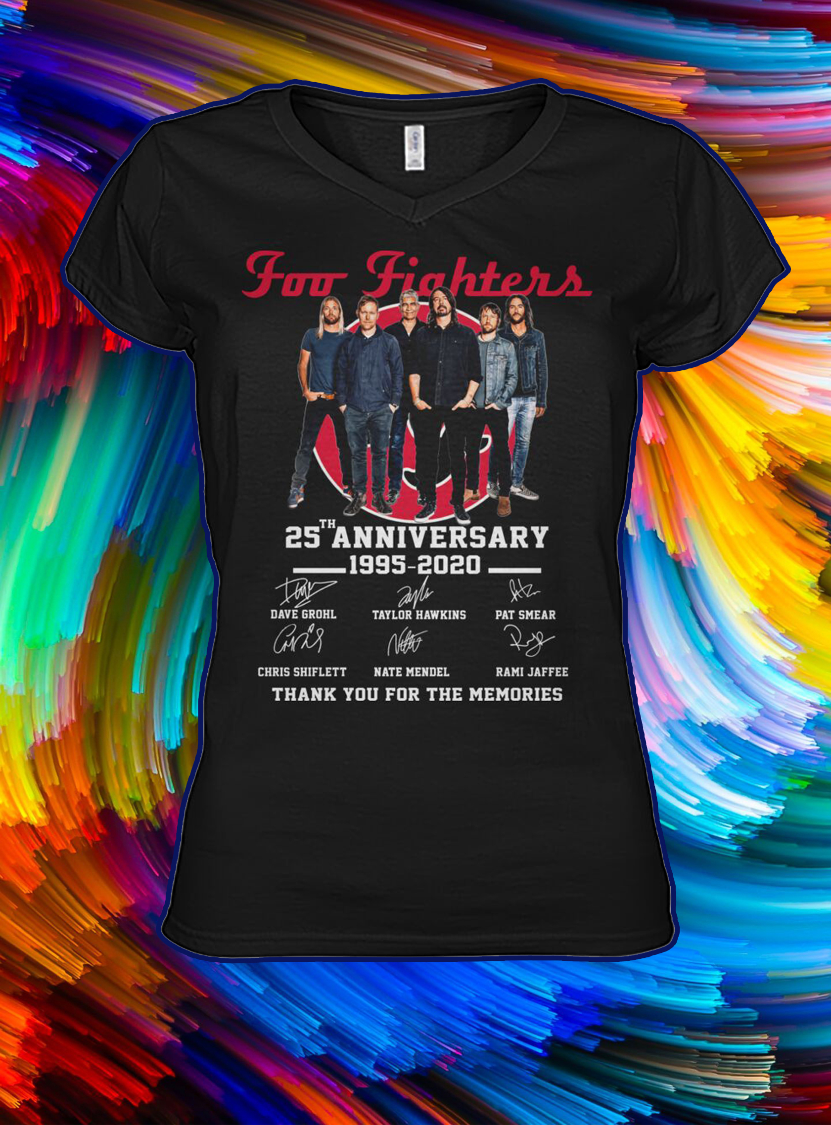 Foo fighters 25th anniversary thank you for the memories lady shirt