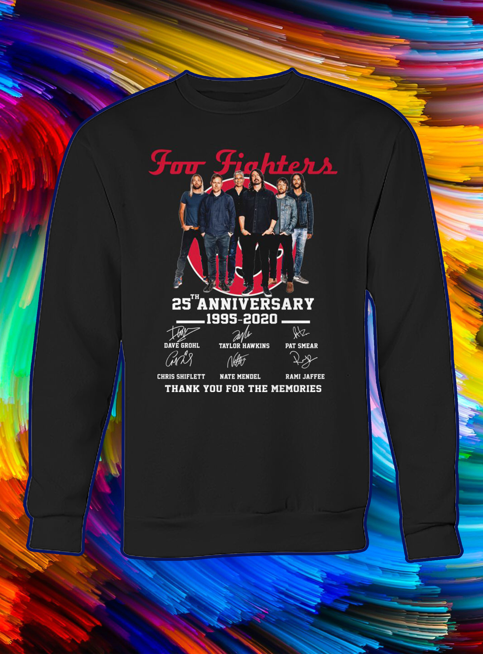 Foo fighters 25th anniversary thank you for the memories sweatshirt