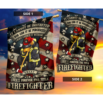Forever the title firefighter flag