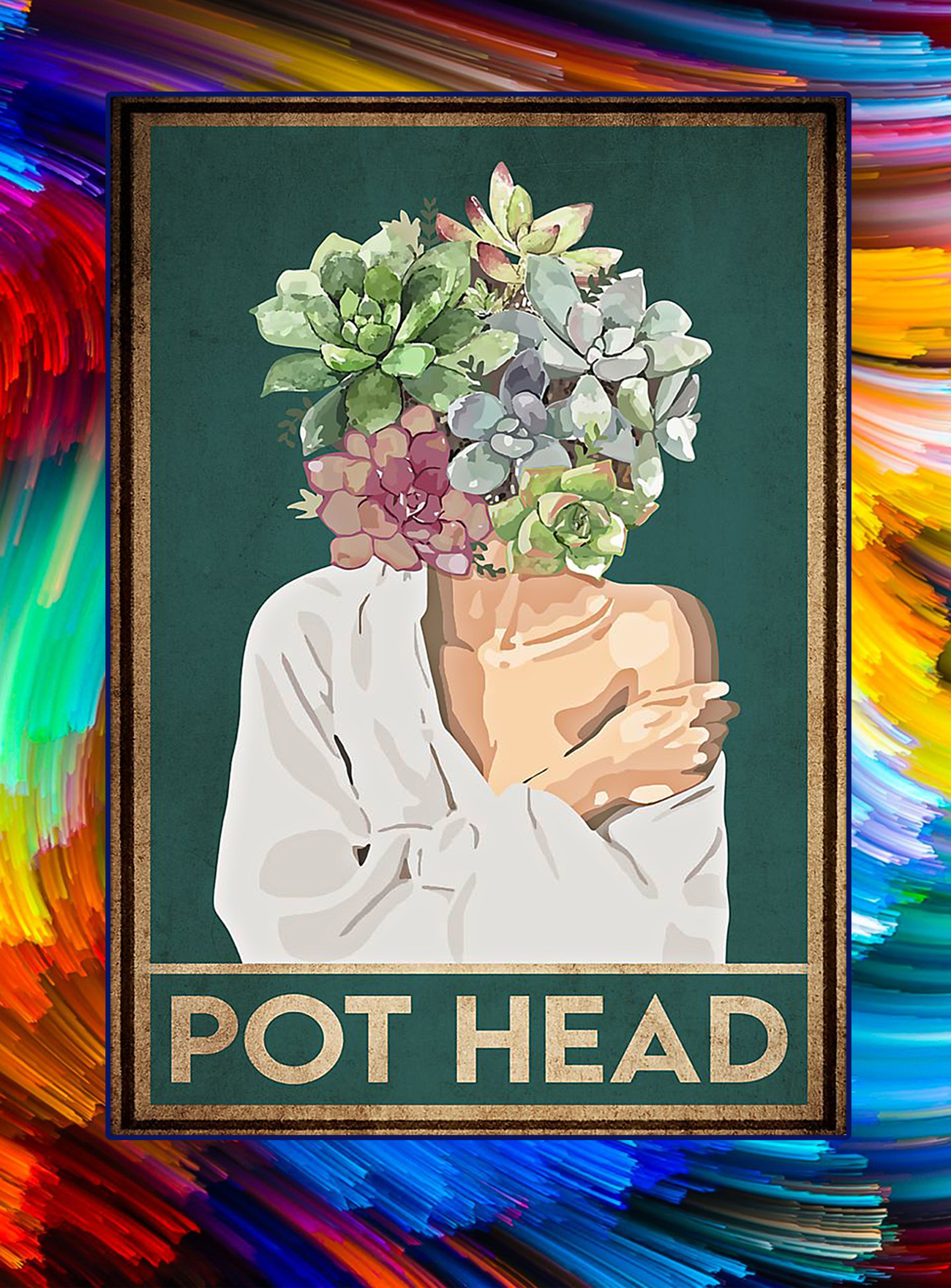 Garden flower pot head poster - A1