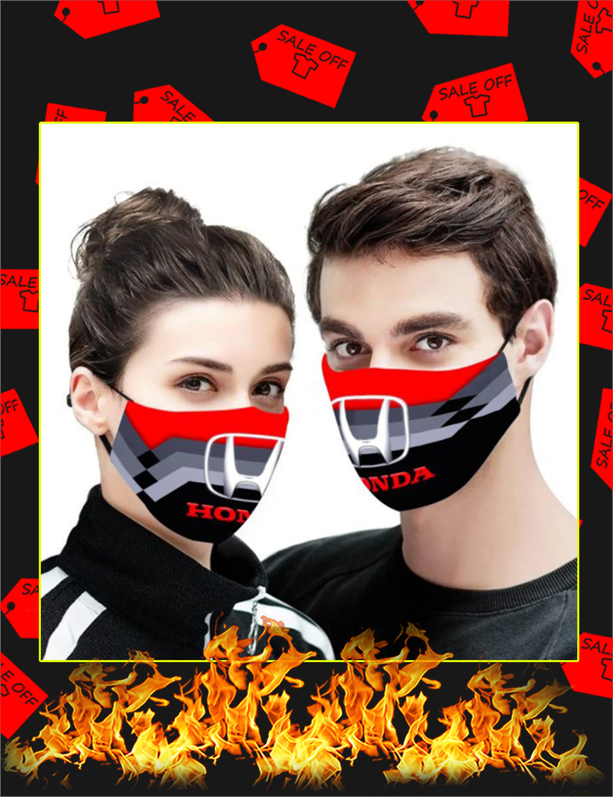 Honda face mask - Picture 1