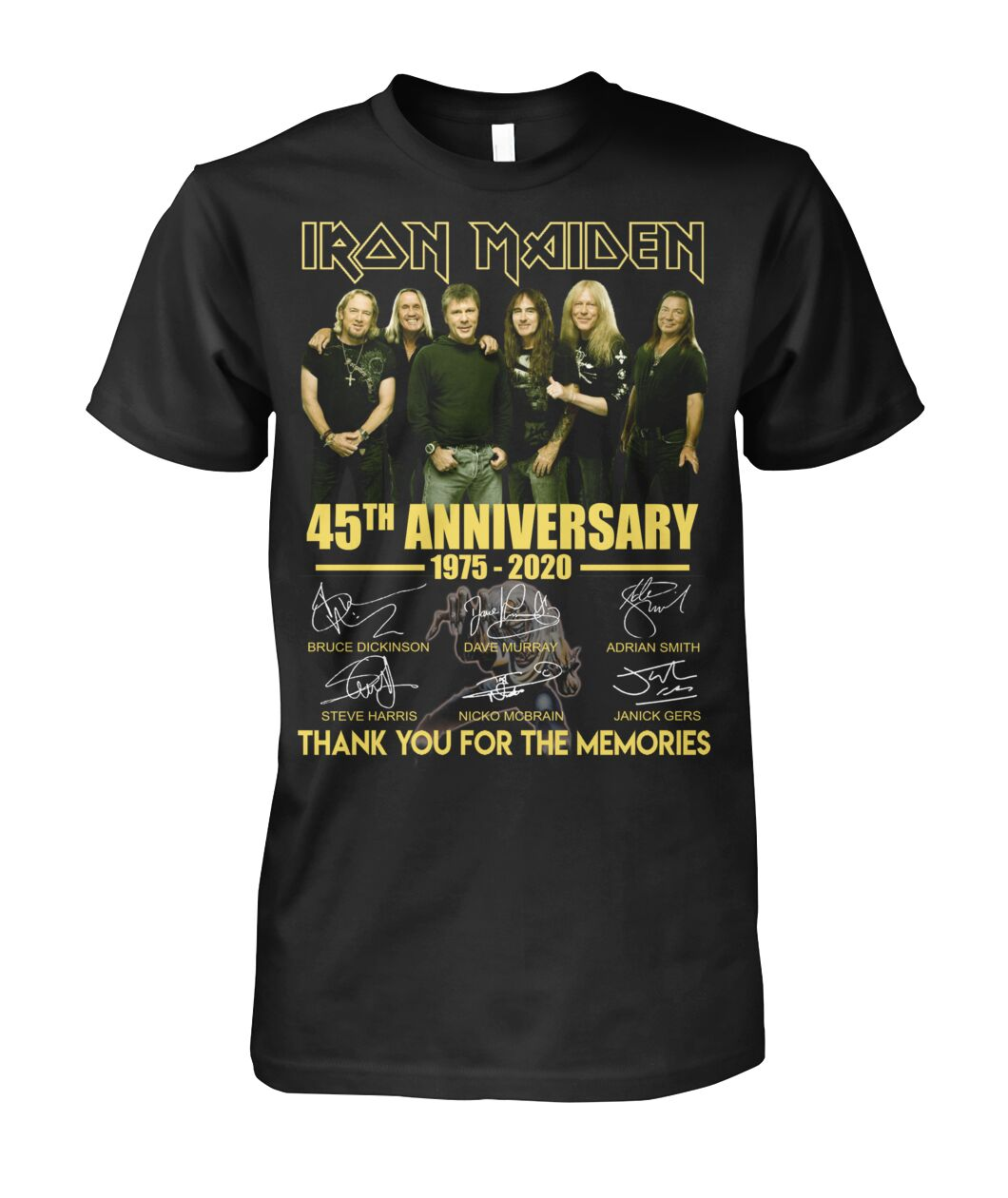 Iron maiden 45th anniversary thank you for the memories shirt