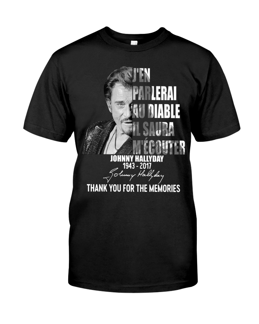Johnny hallyday thank you for the memories shirt
