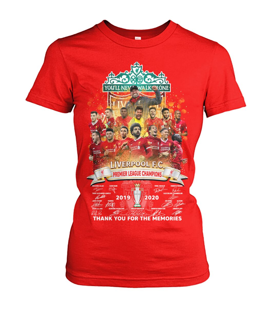 Liverpool fc premier league champions thank you for the memories