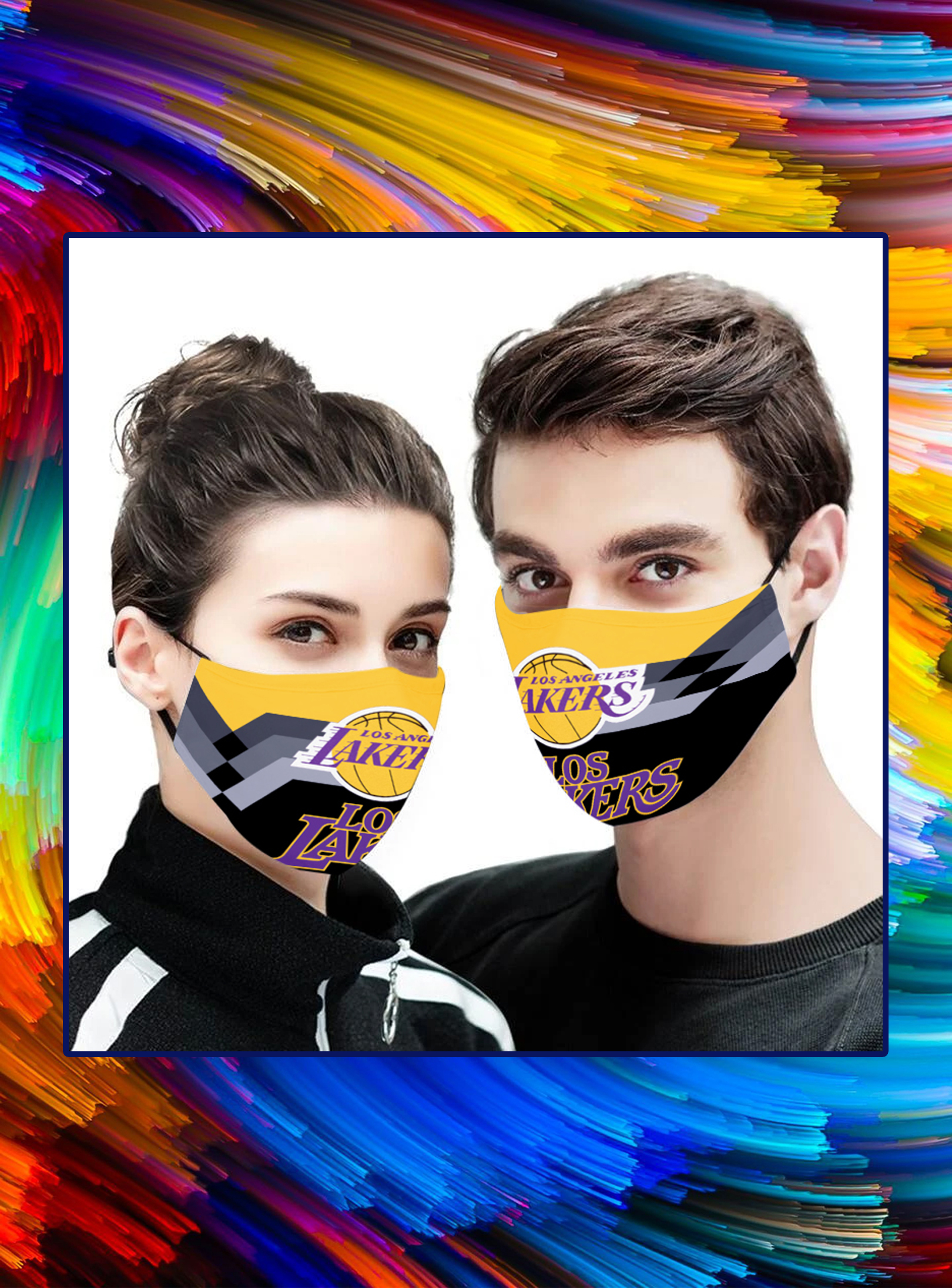 Los angeles lakers 3d face mask