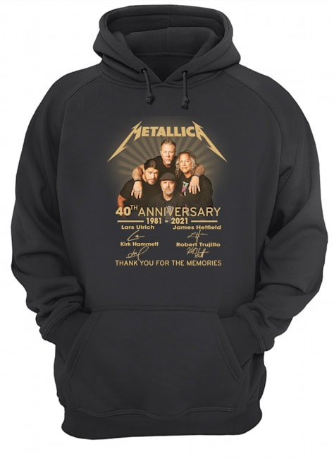 Metallica 40th anniversary thank you for the memories