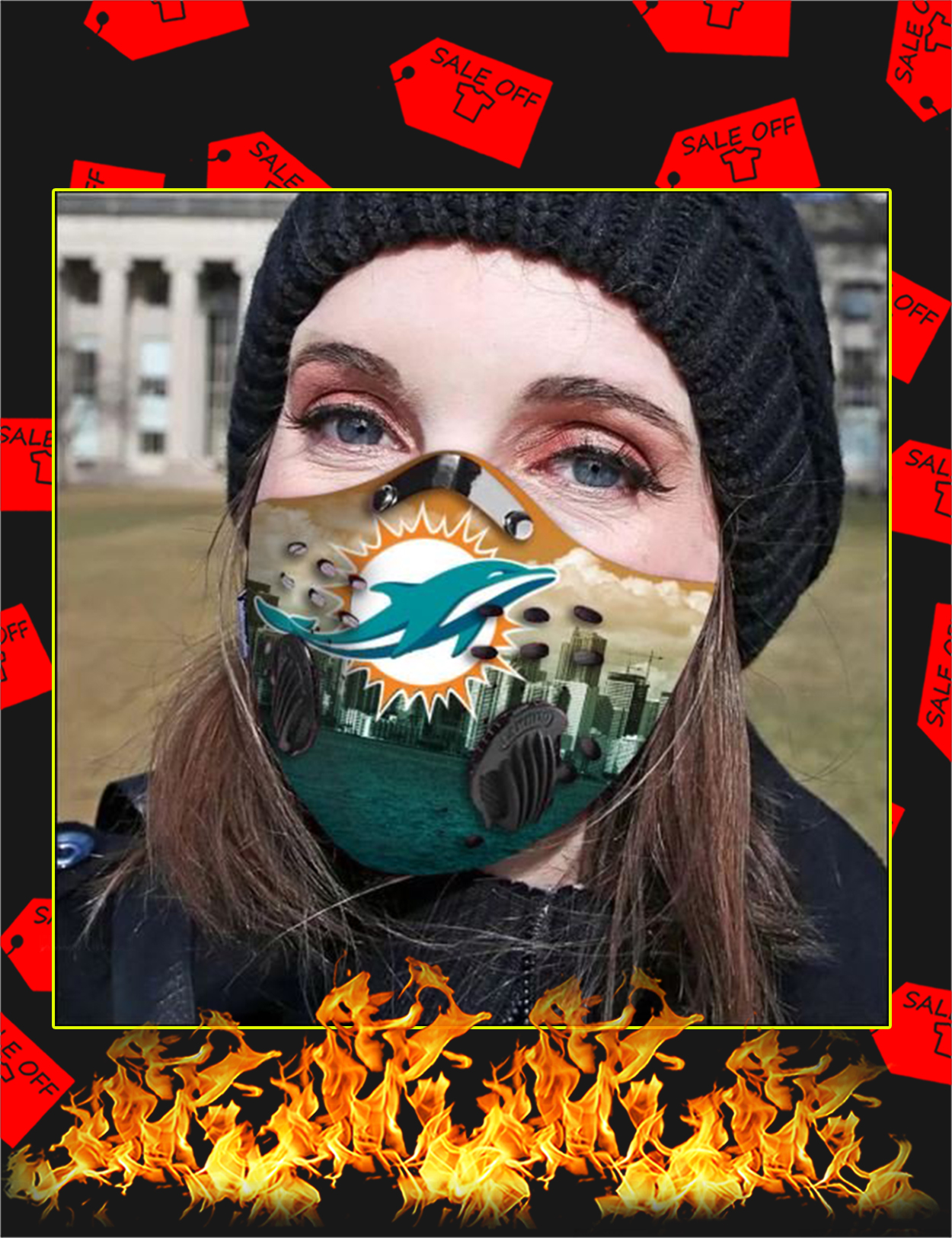 Miami Dolphins filter face mask
