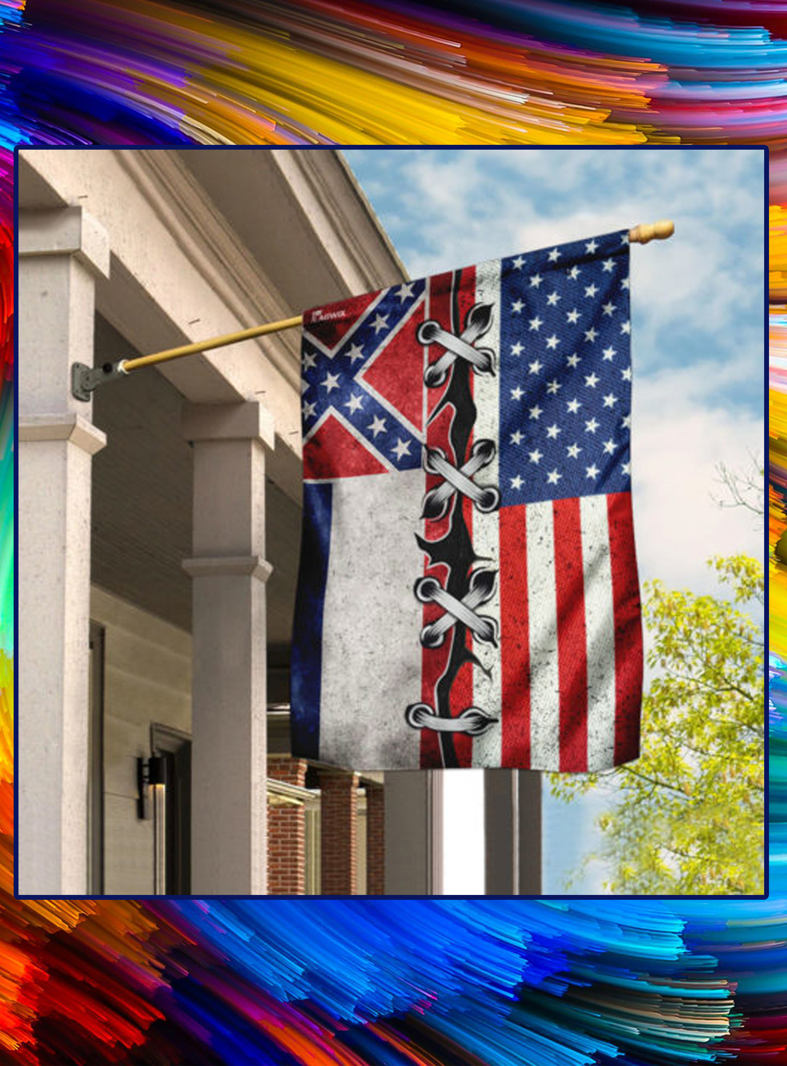 Mississippi And American Flag