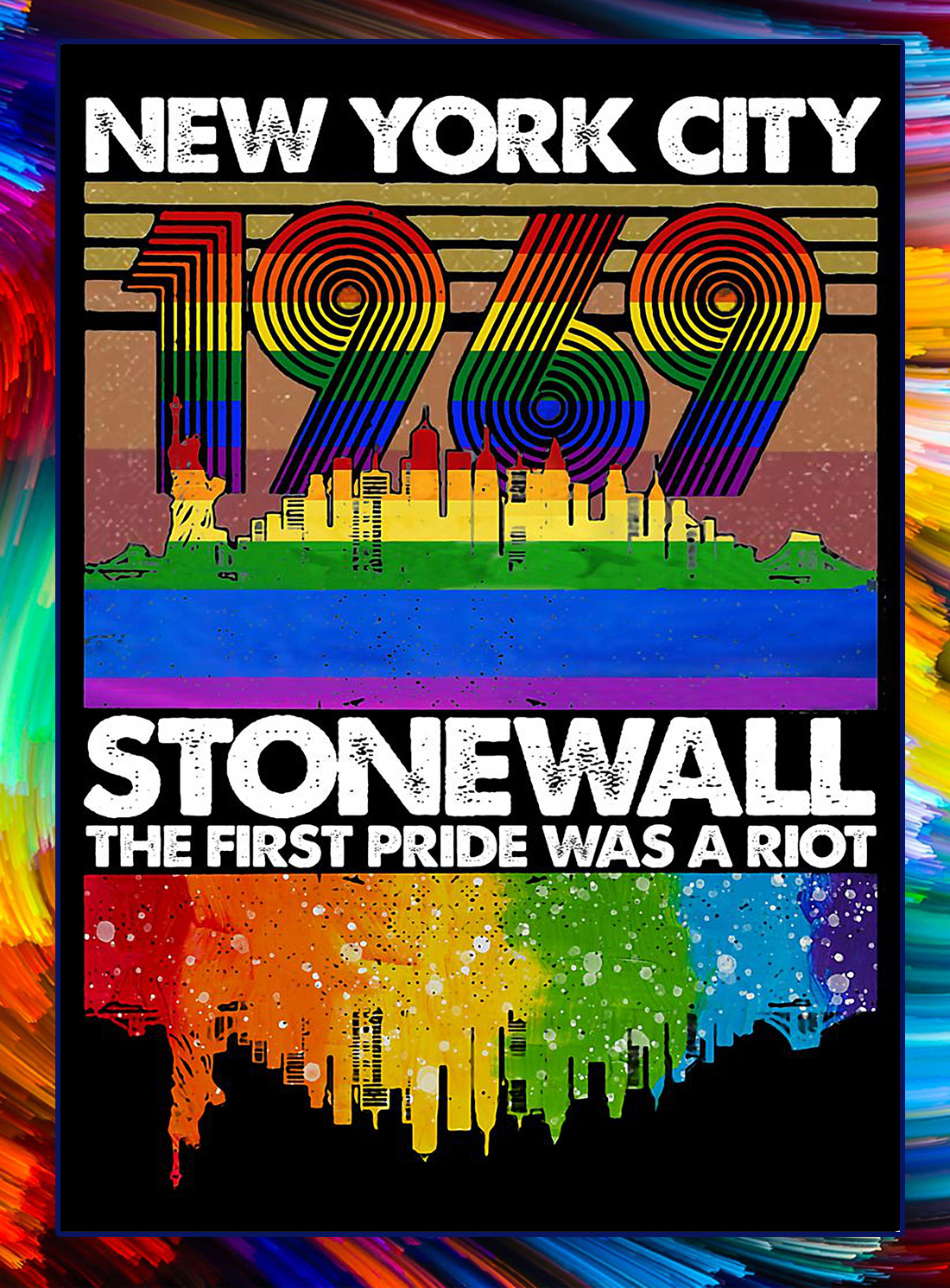New york city 1969 stonewall riots poster
