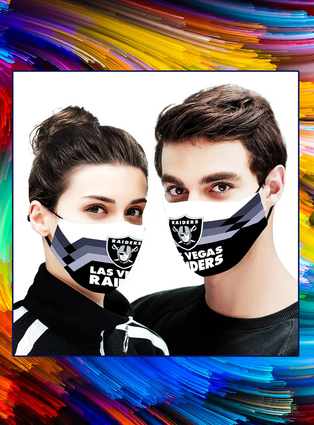 Oakland raiders face mask - Picture 1