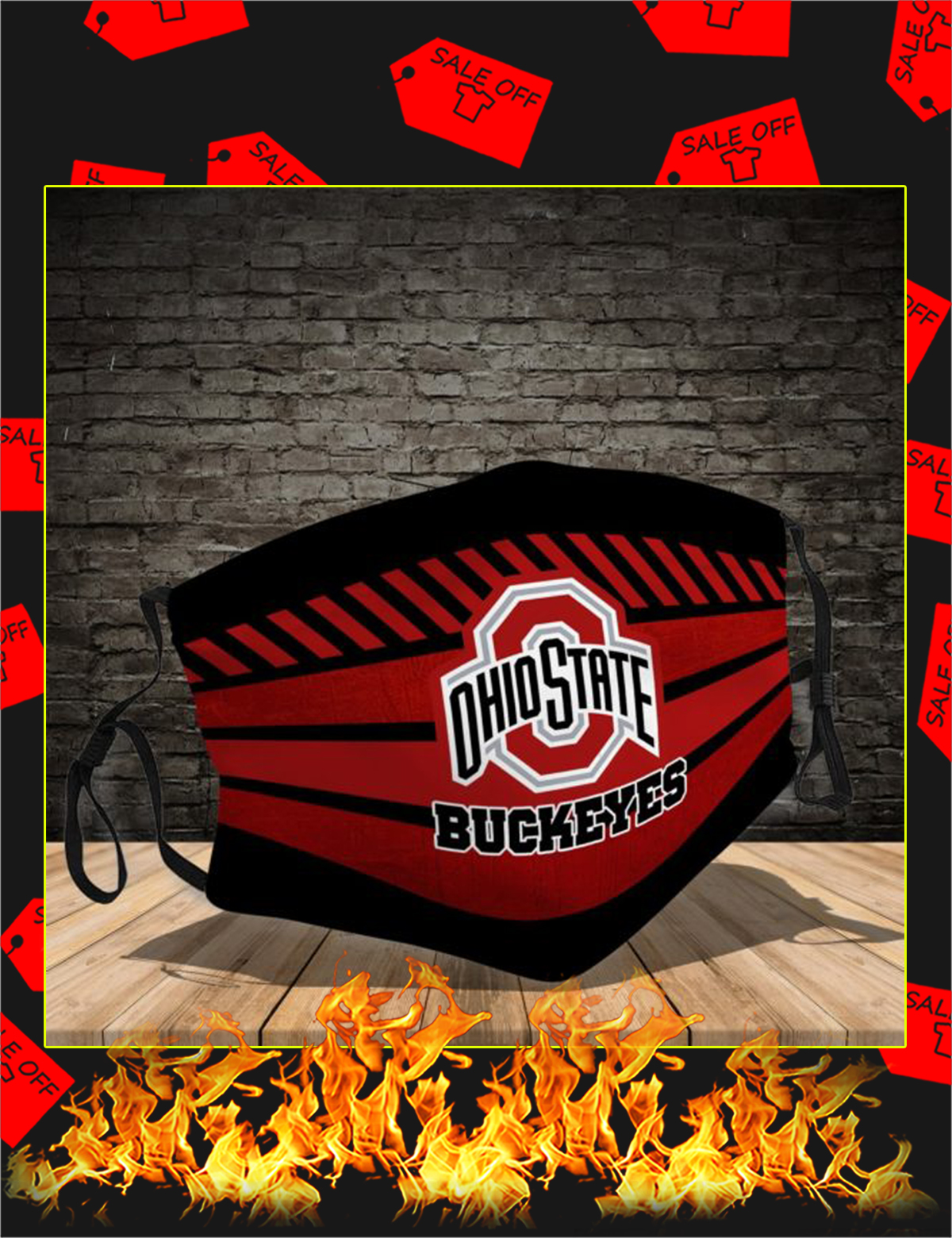 Ohio State Buckeyes Face Mask 2.5 PM - Picture 1