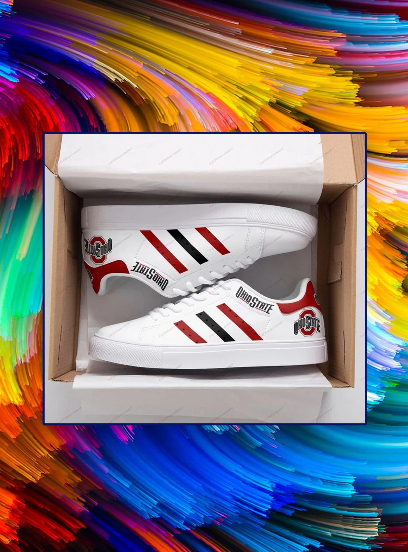 Ohio state buckeyes low top shoes - Picture 1