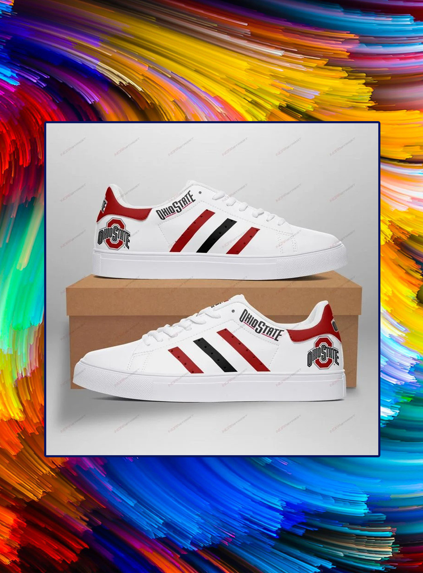 Ohio state buckeyes low top shoes