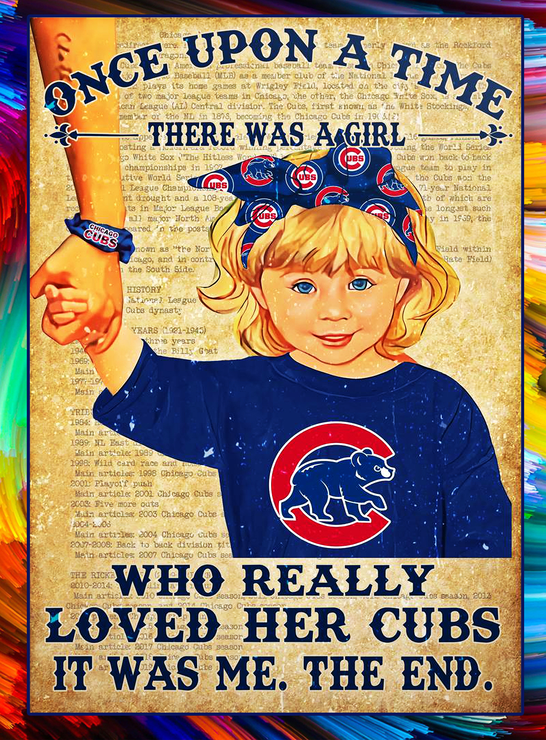 Once upon a time there was a girl who really loved her cubs poster - Blonde Hair