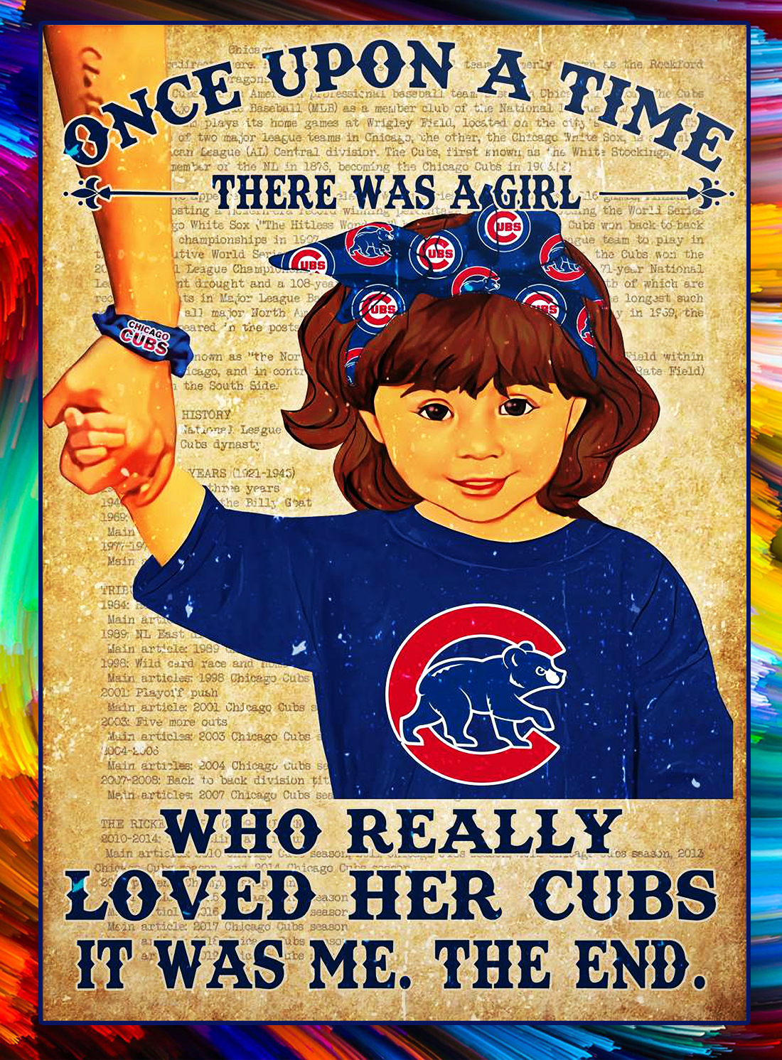 Once upon a time there was a girl who really loved her cubs poster - Brown hair