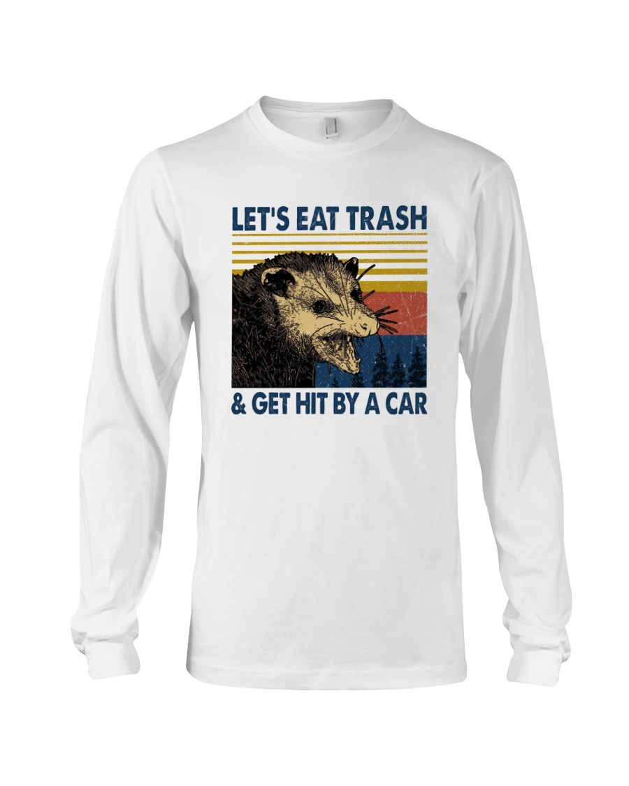 Opossum Let's eat trash and get hit by a car