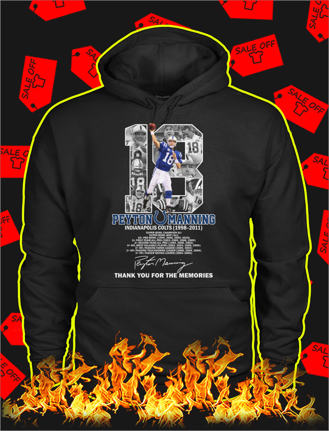 Peyton manning thank you for the memories hoodie