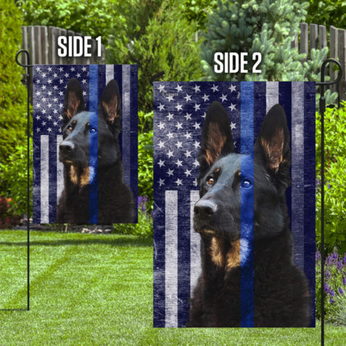 Police dog k9 the thin blue line flag