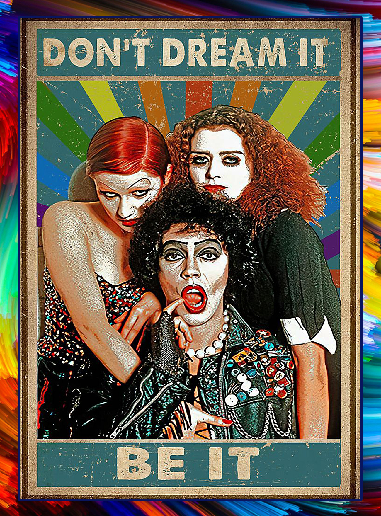 Rocky horror picture show don't dream be it poster - A4