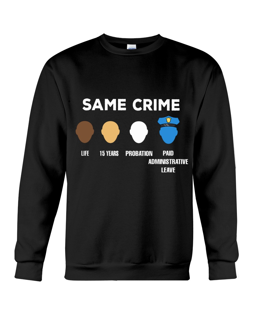 Same crime life 15 years probation paid administrative leave