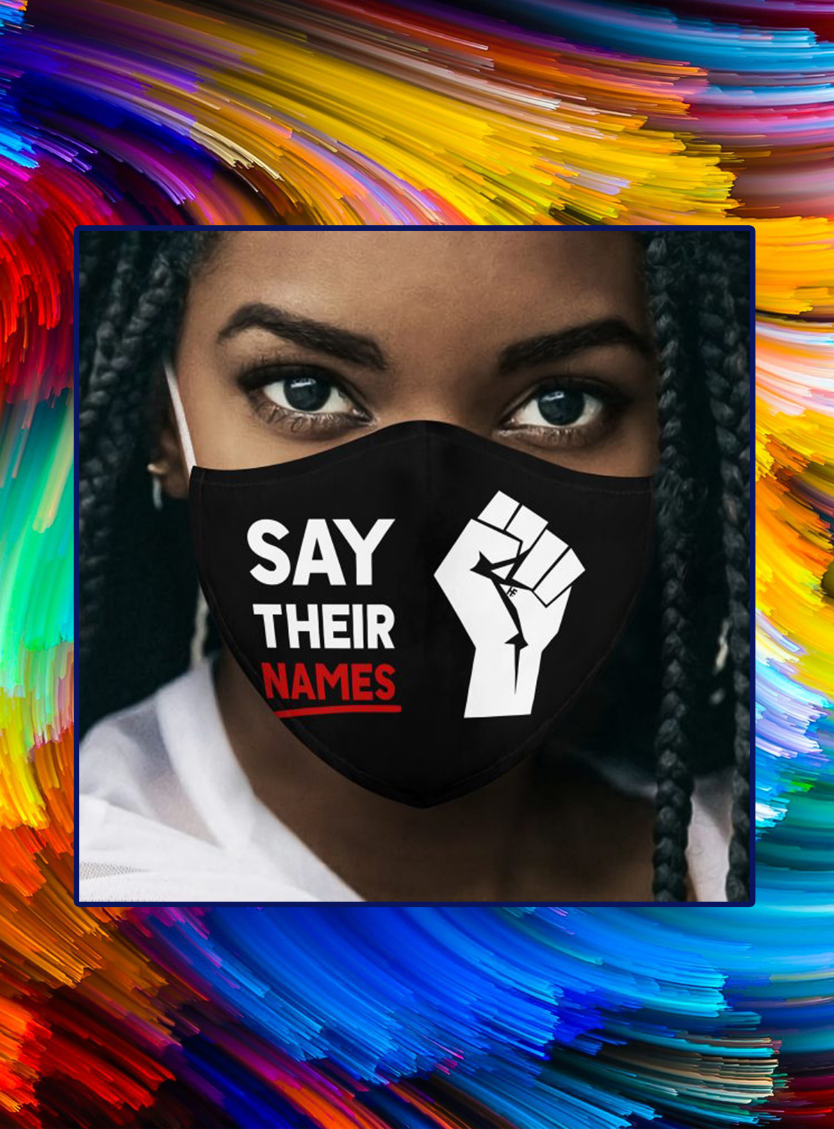 Say Their Names Black Lives Matter face mask - Picture 1
