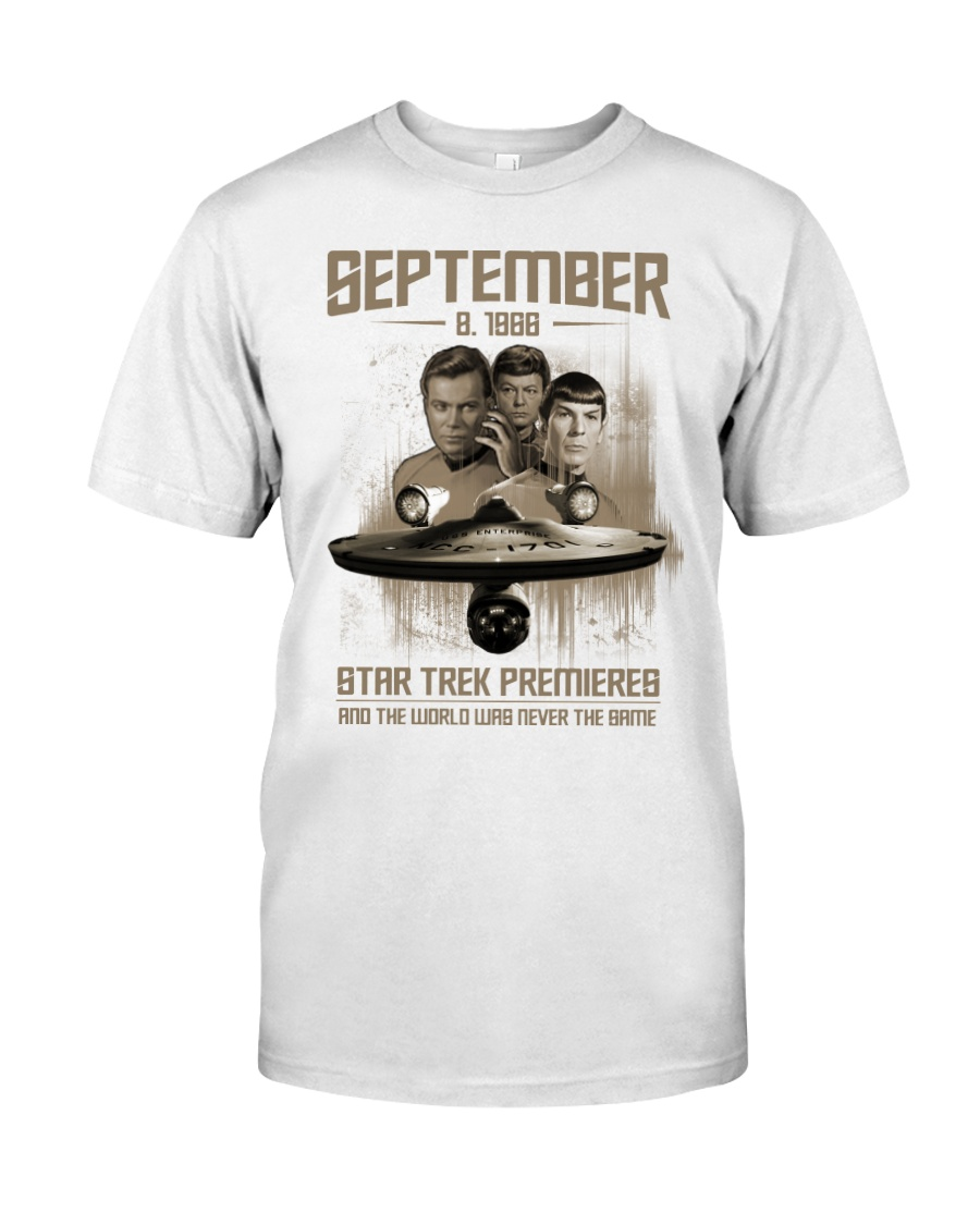 September 8 1988 star trek premieres and the world was never the same shirt