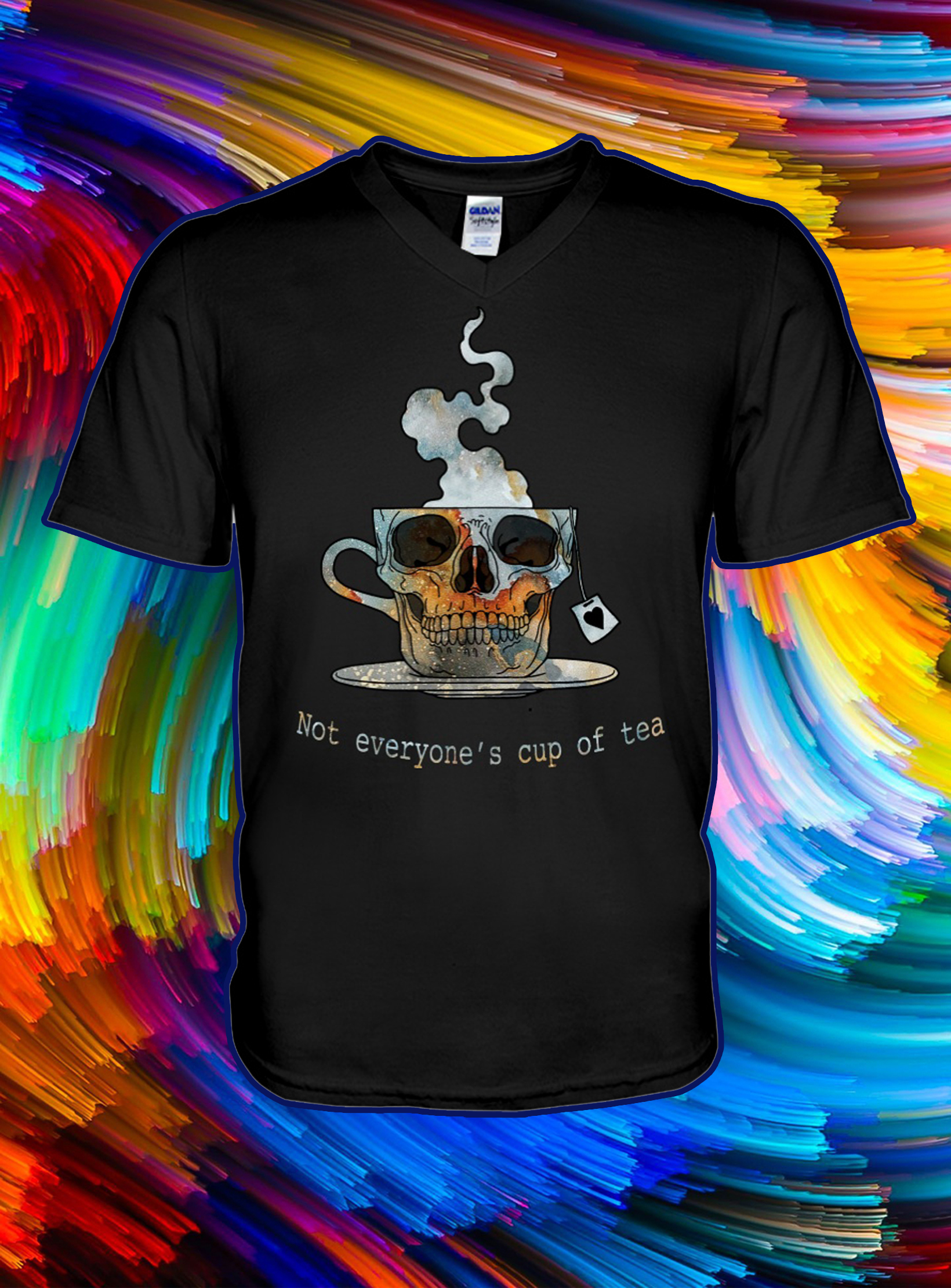 Skull not everyone's cup of tea v-neck