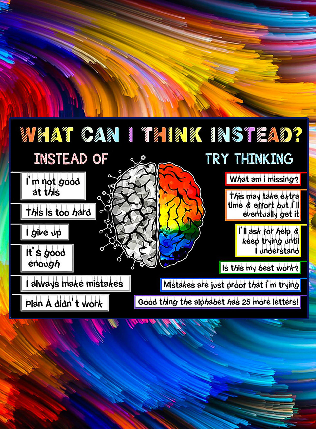 Teacher what can I think instead poster