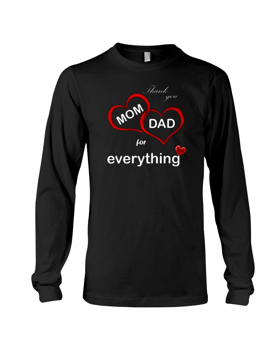 Thank you mom dad for everything long sleeve tee