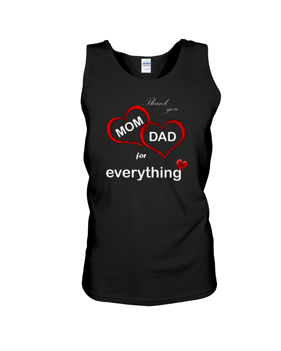 Thank you mom dad for everything tank top