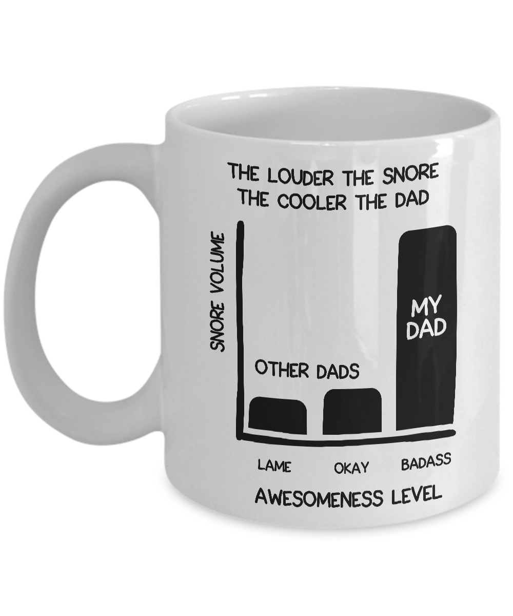 The louder the snore the cooler the dad mug