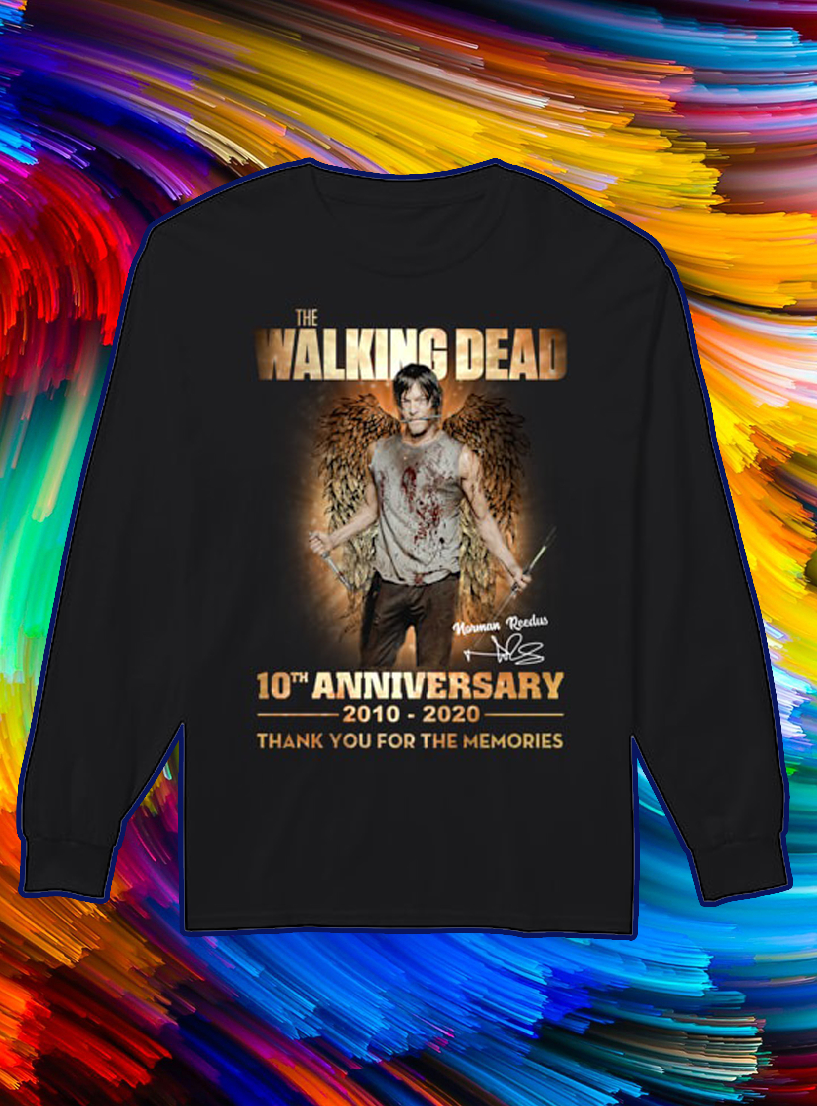 The walking dead 10th anniversary 2010 2020 thank you for the memories longsleeve tee