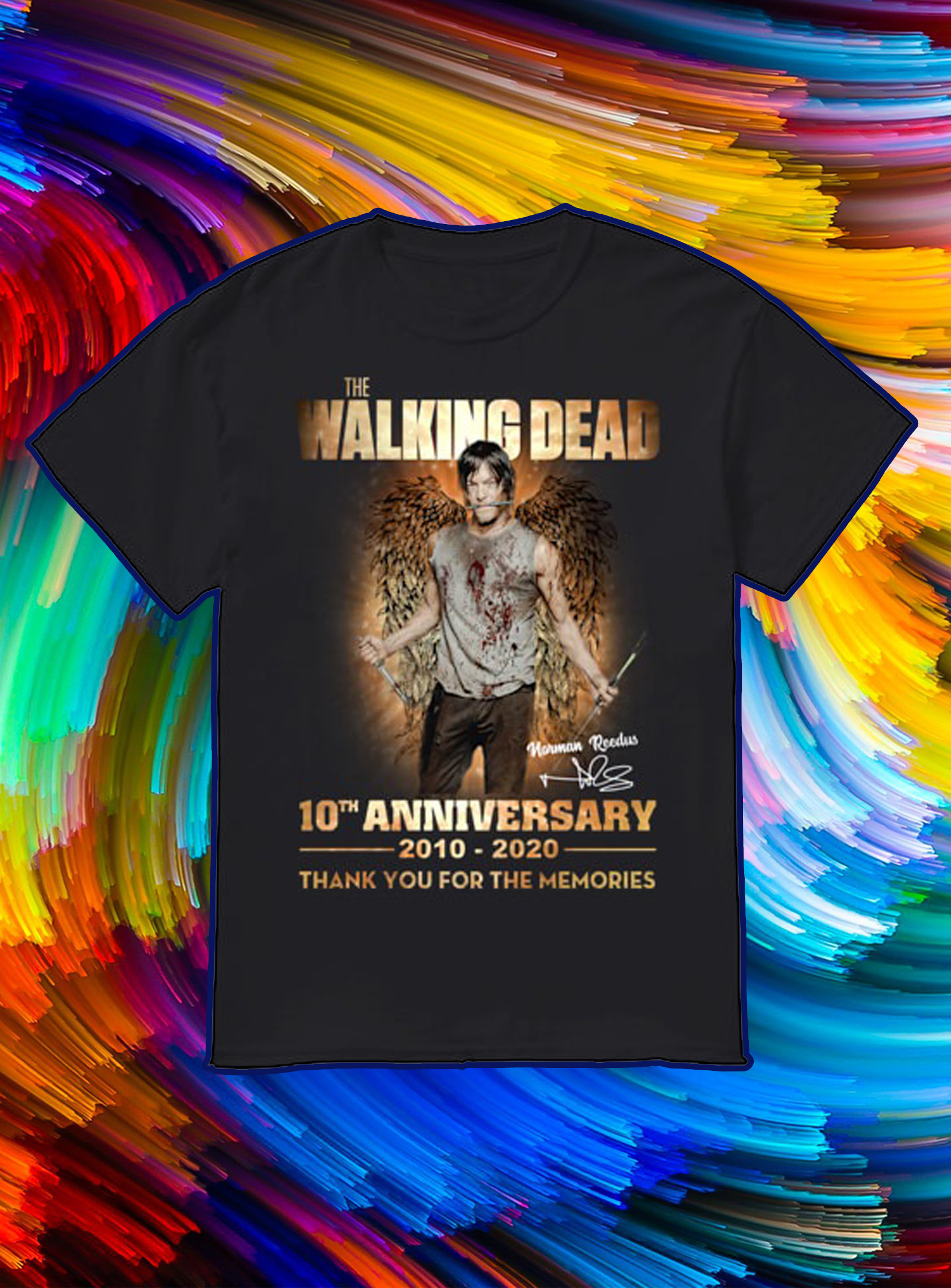 The walking dead 10th anniversary 2010 2020 thank you for the memories shirt