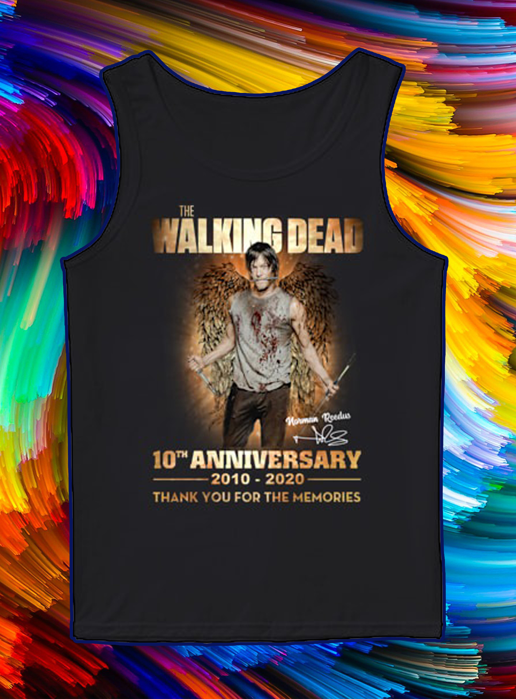 The walking dead 10th anniversary 2010 2020 thank you for the memories tank top
