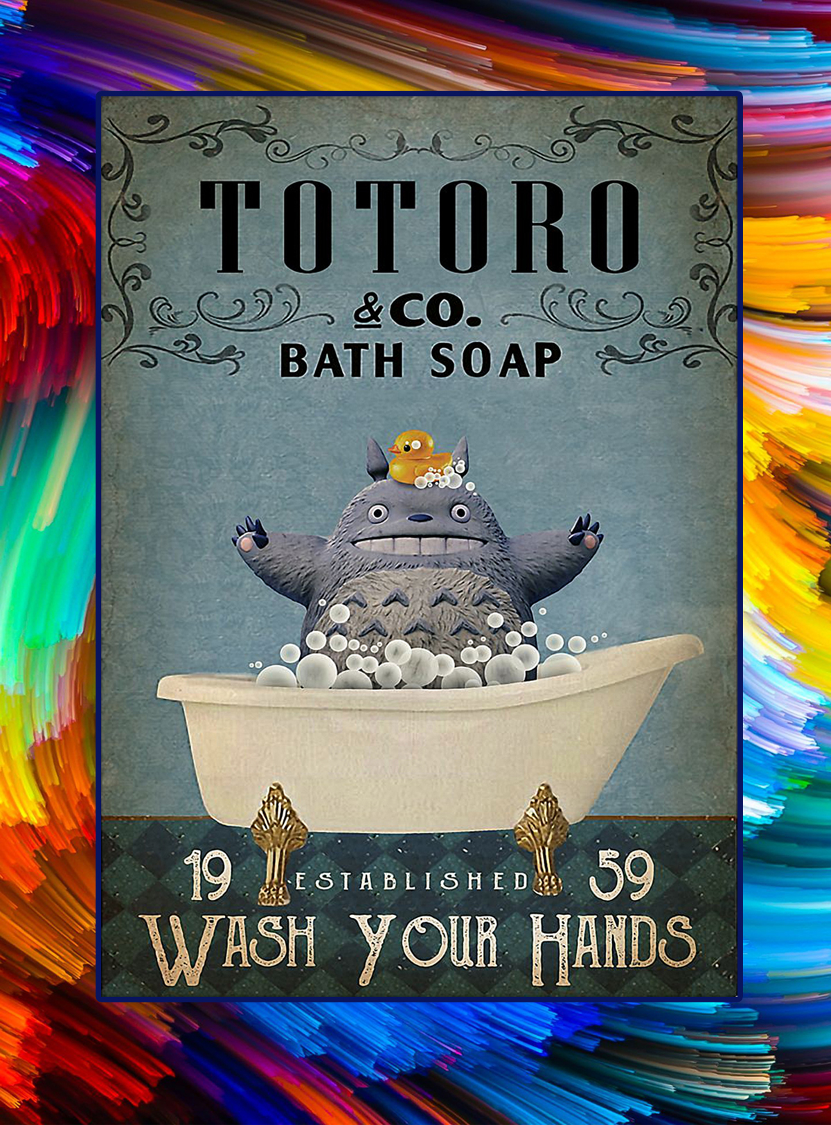 Totoro co bath soap wash your hands poster