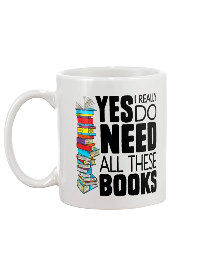 Yes i really do need all these books mug - pic 1
