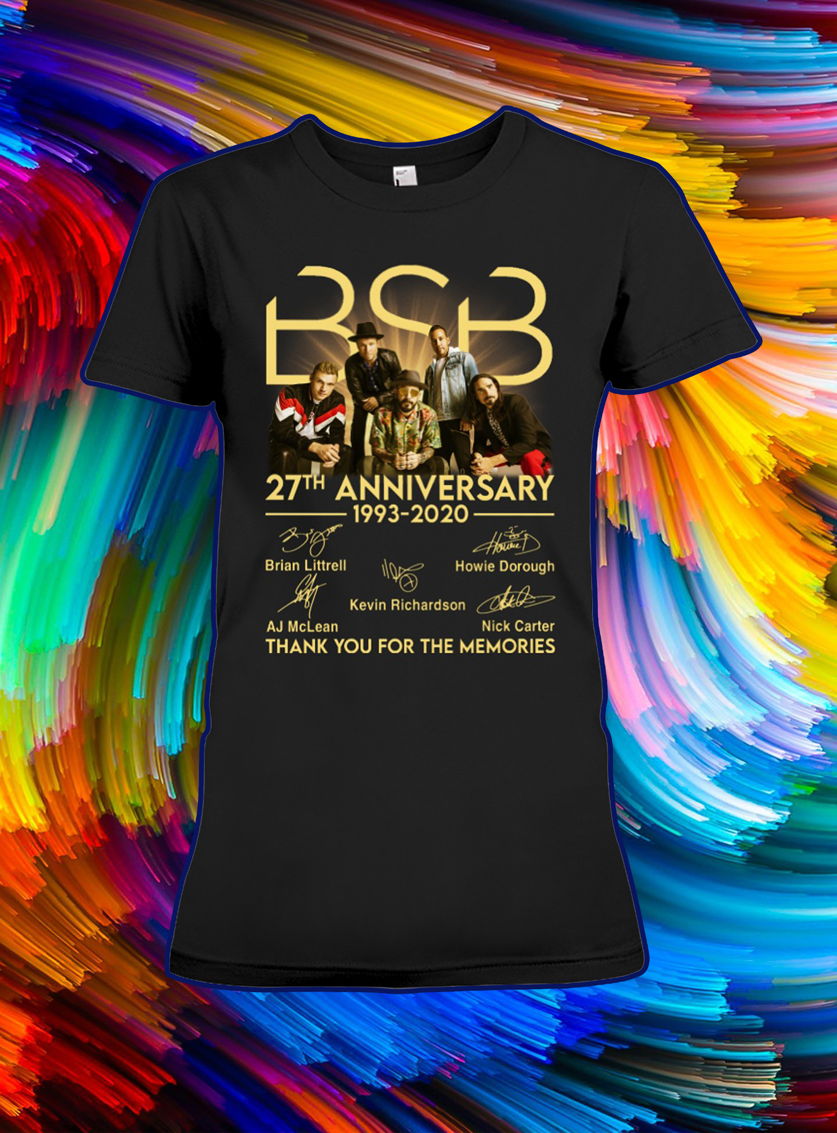 BSB 27th anniversary thank you for the memories signature lady shirt