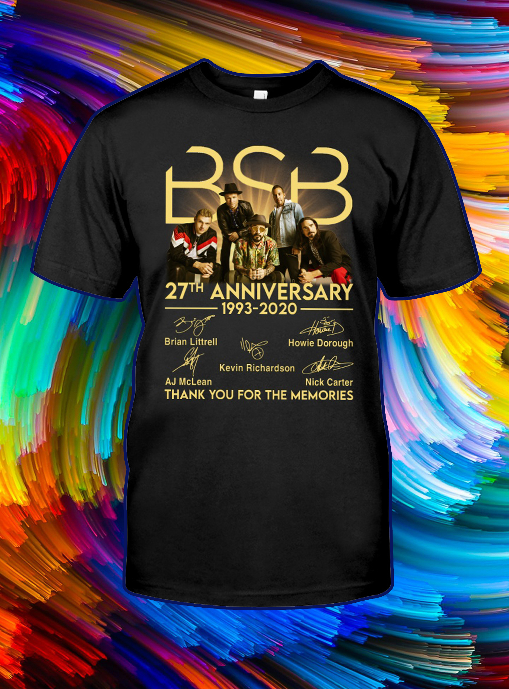 BSB 27th anniversary thank you for the memories signature shirtBSB 27th anniversary thank you for the memories signature shirt