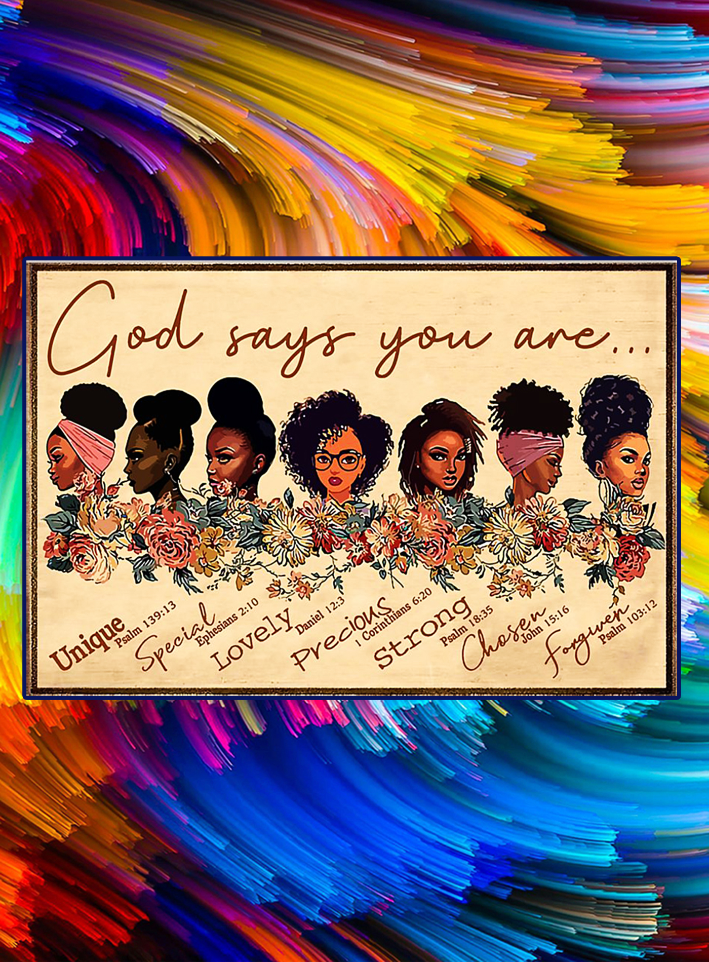 Black girl god says you are poster - A1