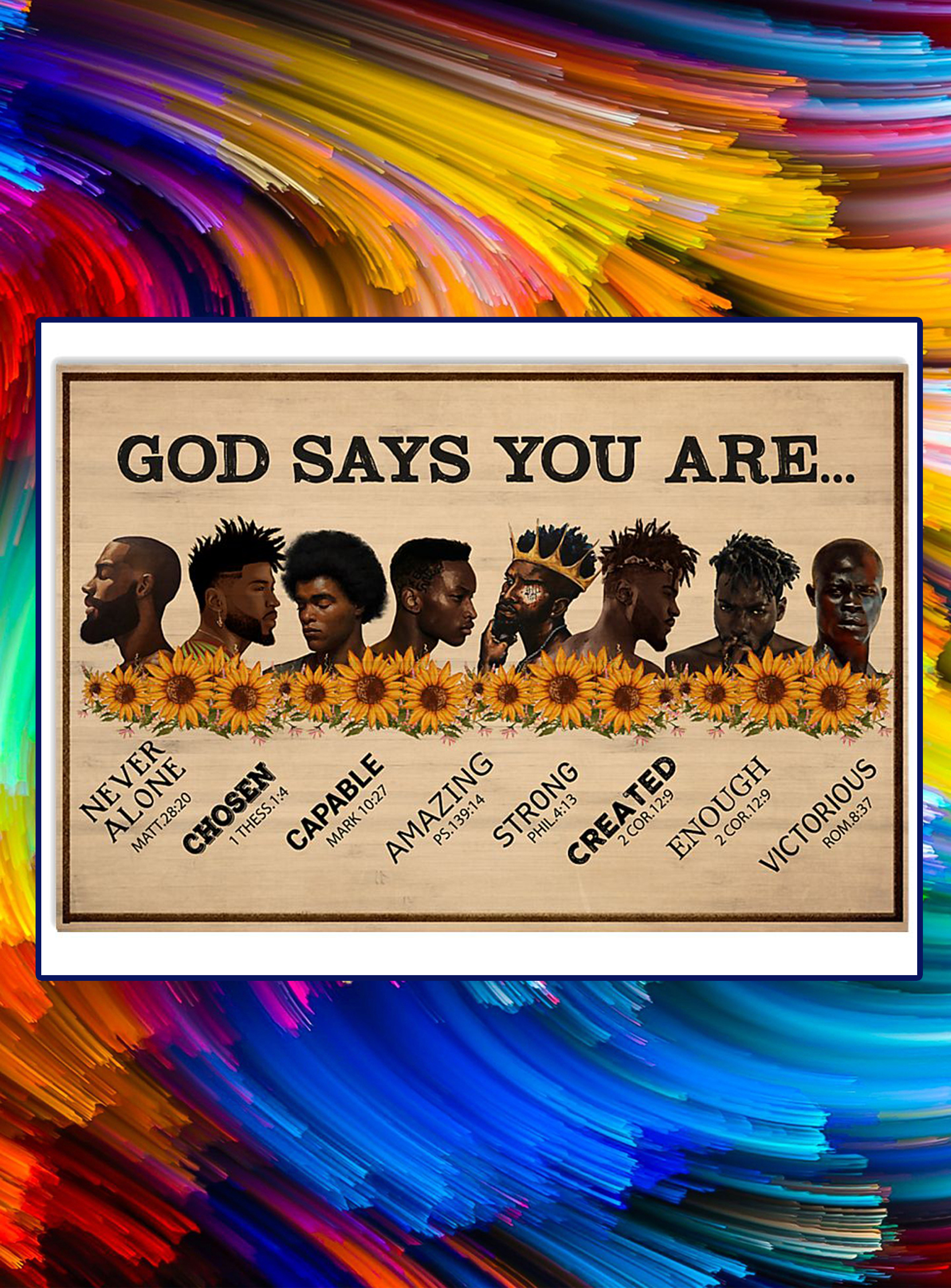 Black men God says you are poster - A3