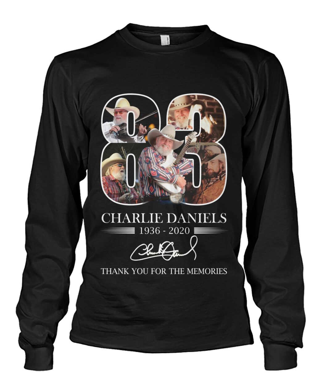 Charlie daniels 1936 2020 thank you for the memories signature