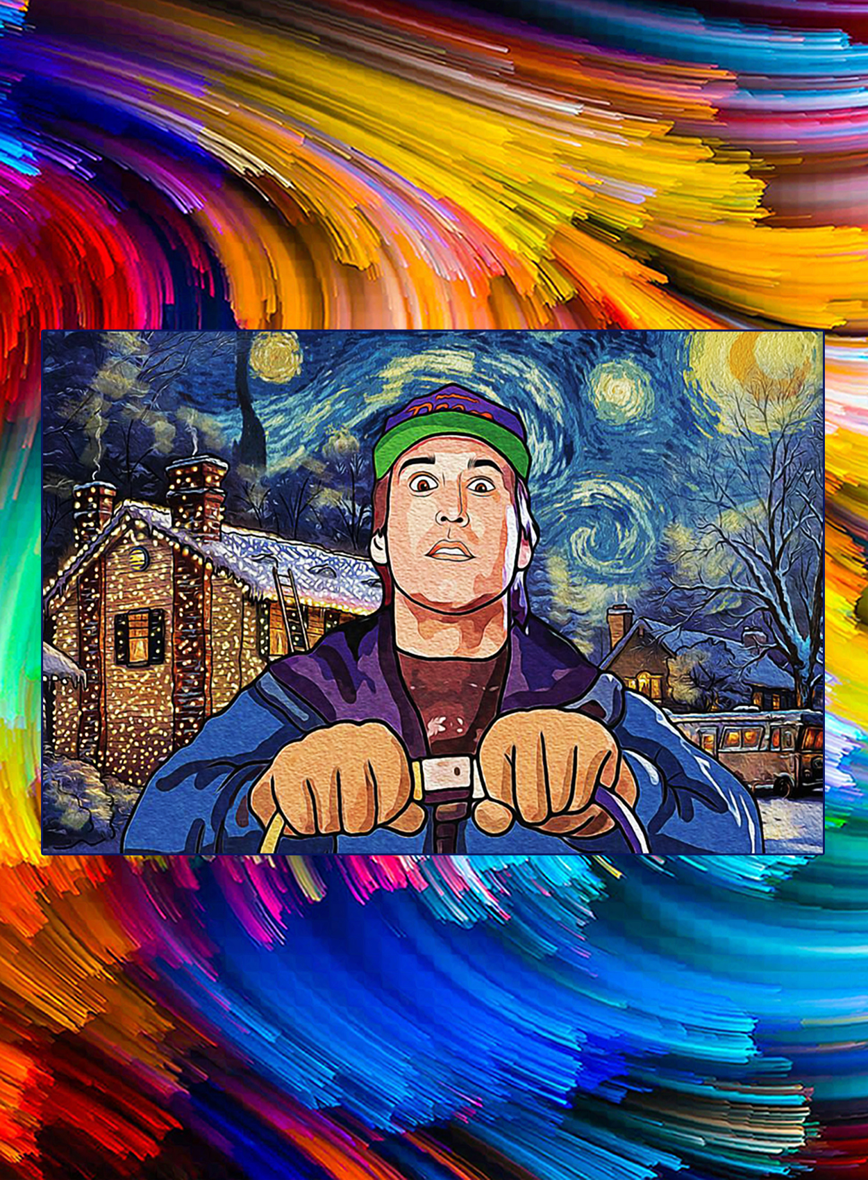 Christmas vacation starry night poster - A2