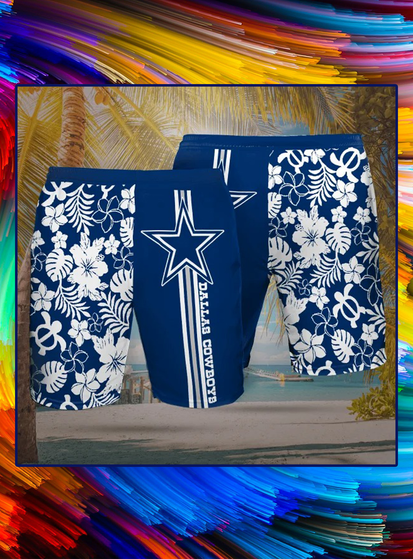 Dallas cowboys hawaiian short