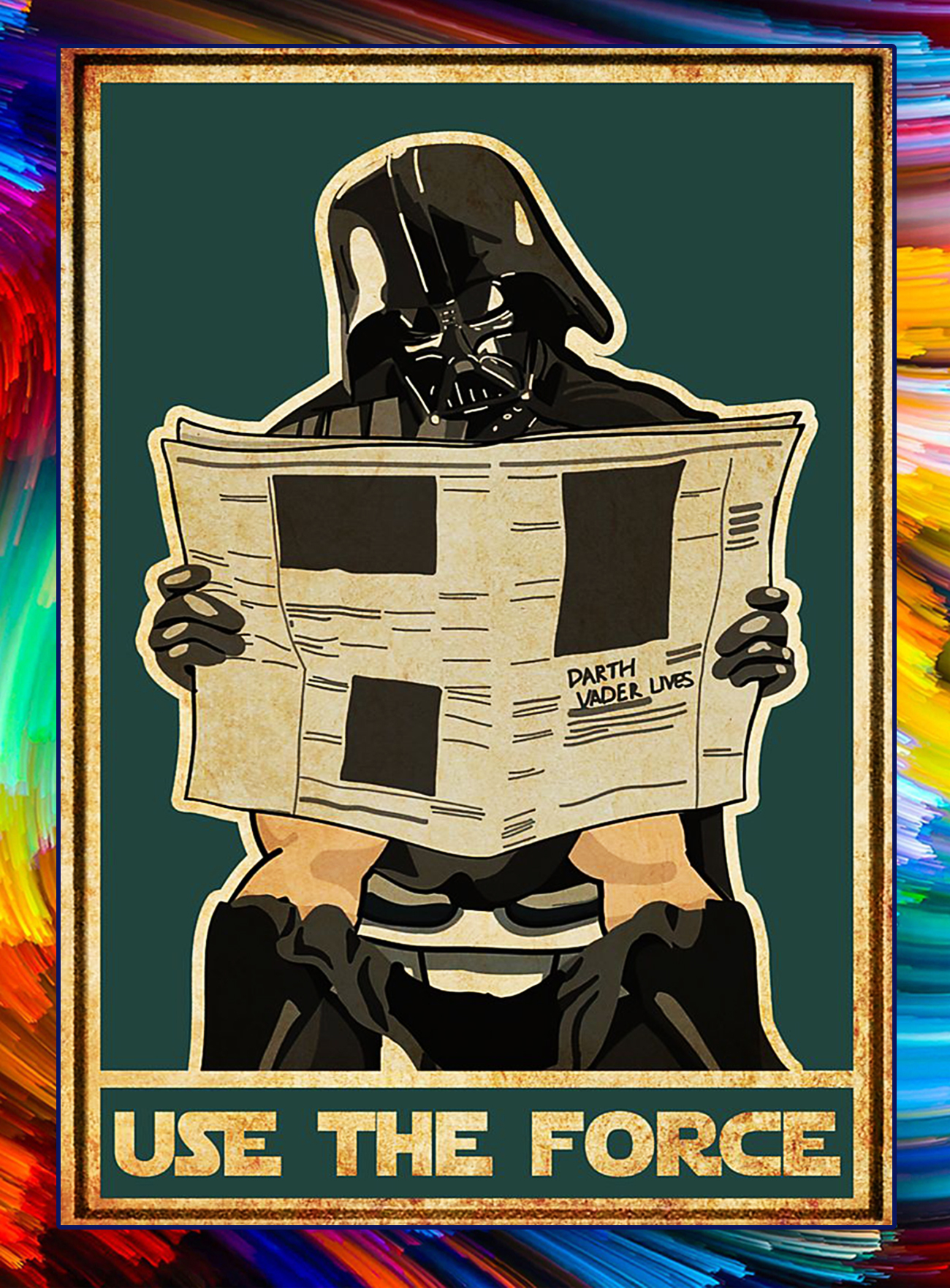 Darth vader use the force poster - A4