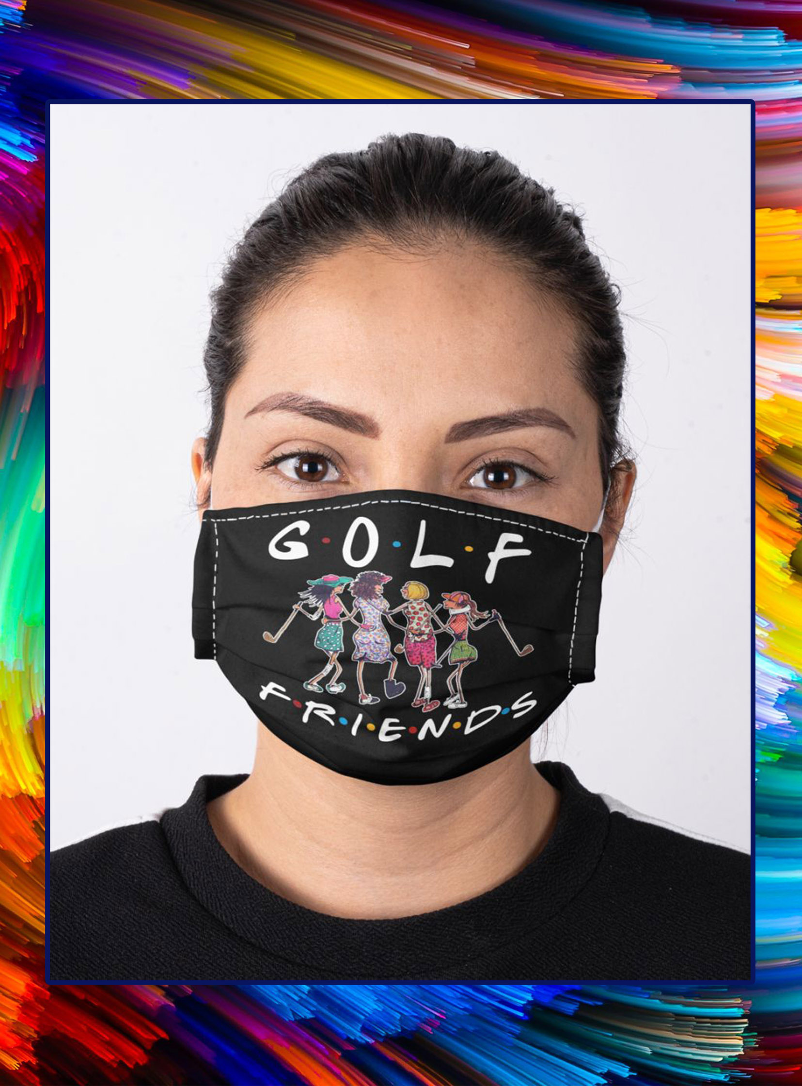Golf friends face mask- pic 1