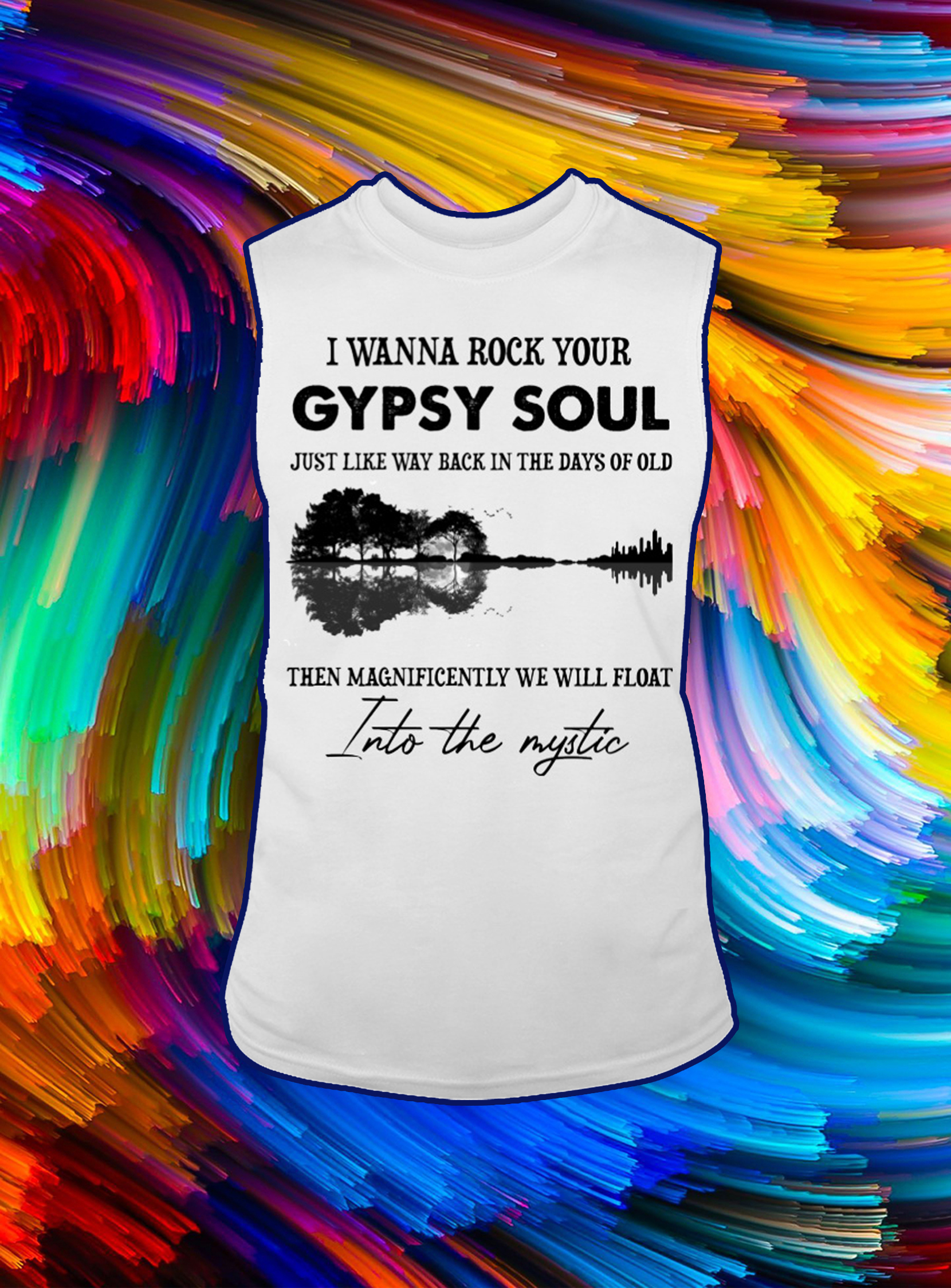 Guitar reflection I wanna rock your gypsy soul just like way back in the days of old tank top