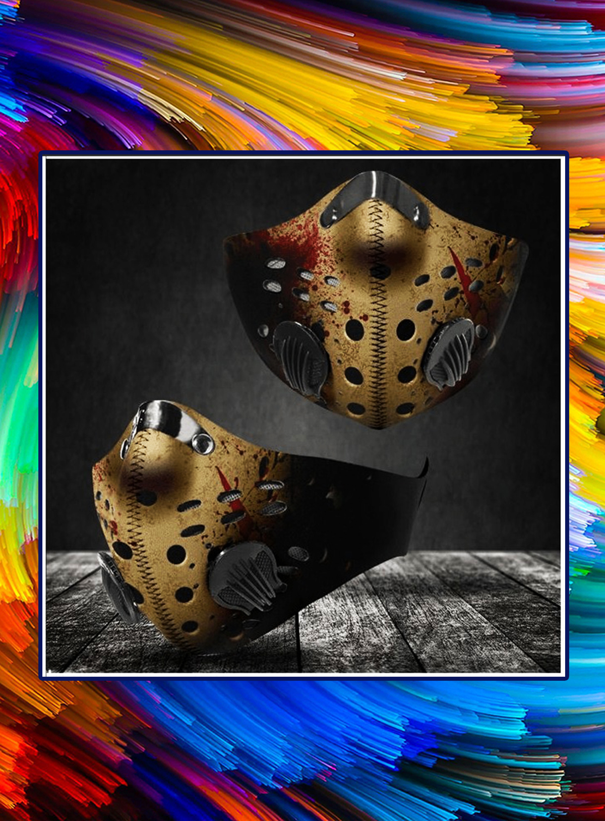 Jason Voorhees filter face mask - Picture 1
