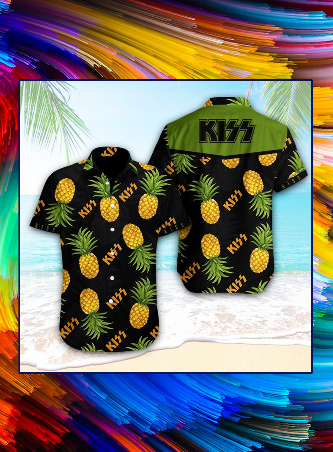 Kiss rock pineapple hawaiian shirt - Picture 1